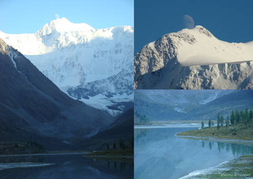white mountain, white moon, white horse
