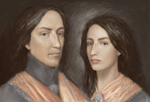 Double portrait of time of the Thirty years war by Irsanna