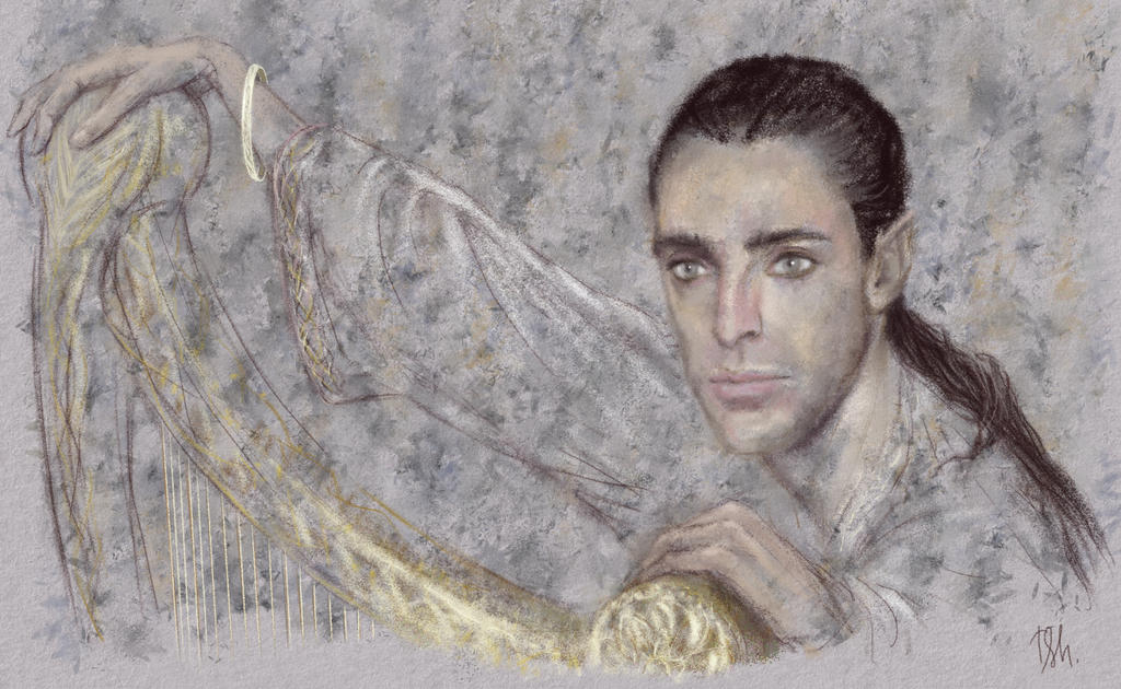 Eol and his harp by Irsanna