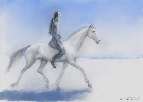 Winter elf trotting