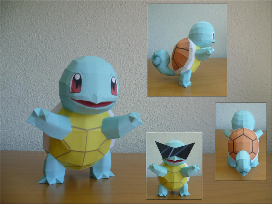 Squirtle papercraft by dodoman75