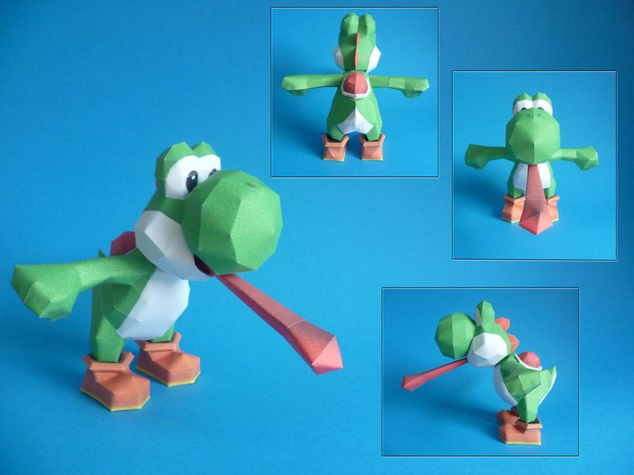 Yoshi papercraft by dodoman75