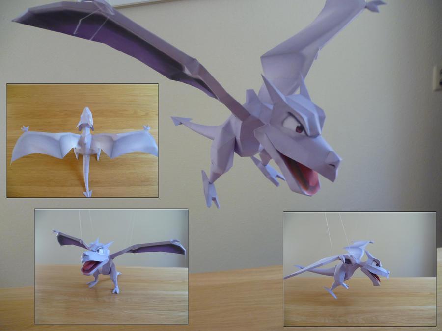 Aerodactyl papercraft by dodoman75