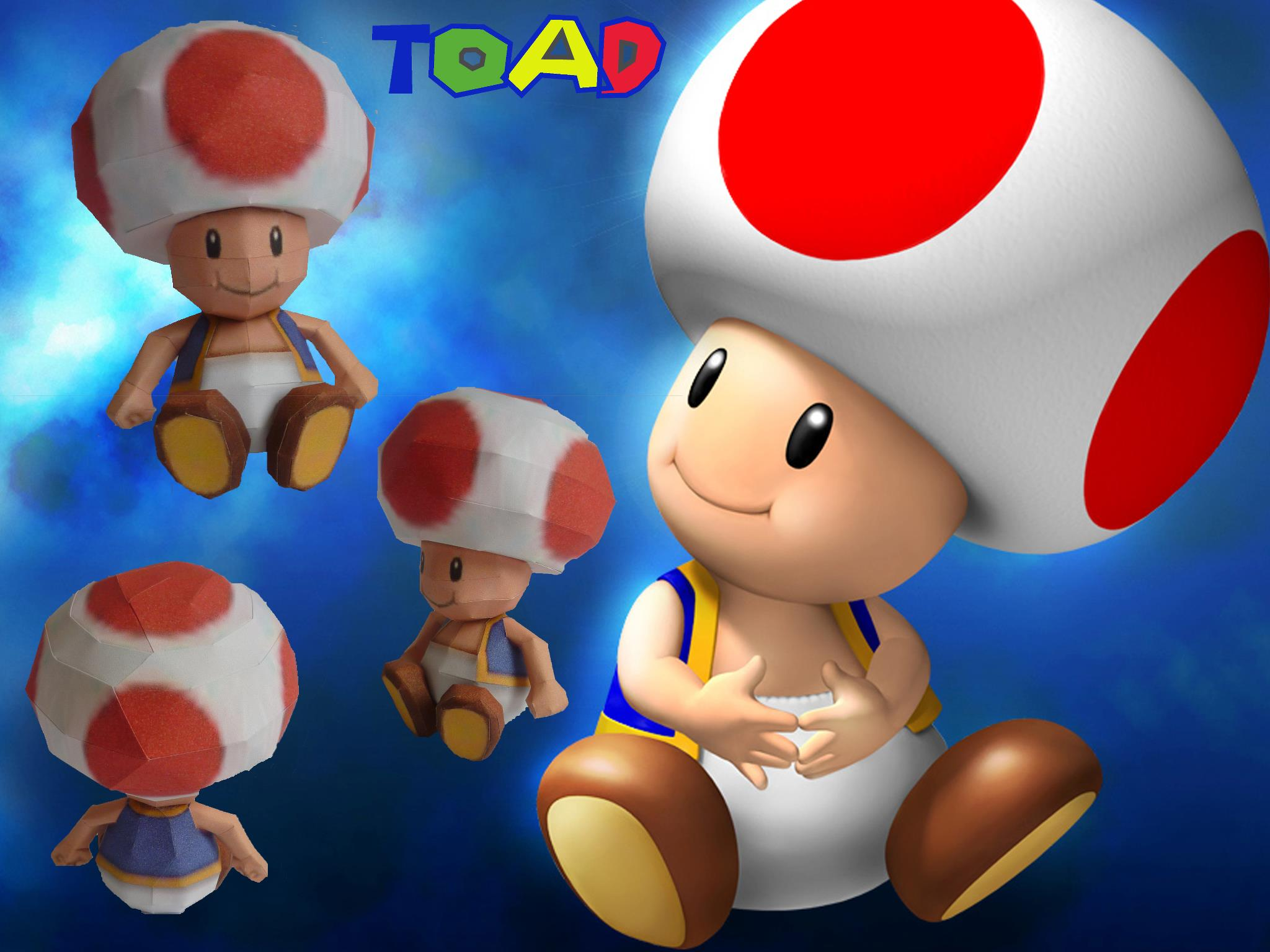 Toad papercraft by dodoman75