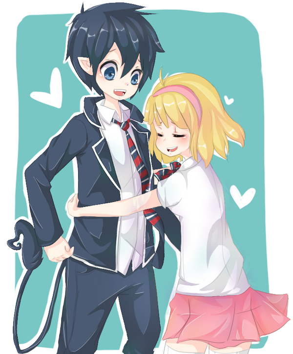 blue exorcist rin and shiemi relationship with god