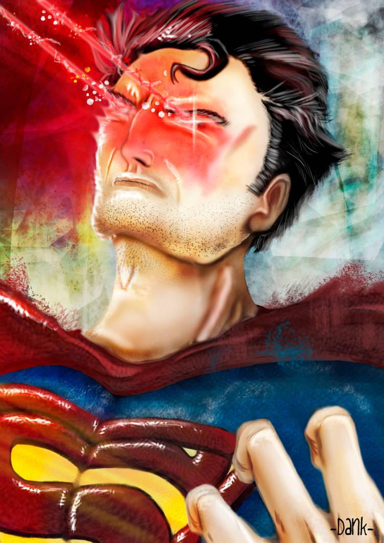 Superman blasts by Piteurock