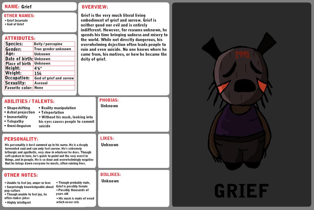 Bio - Grief by YonderHo