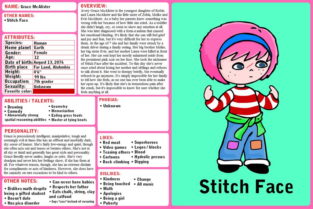 Bio - Stitch Face by YonderHo