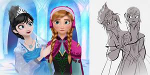 Evil Elsa and Anna (MMD)