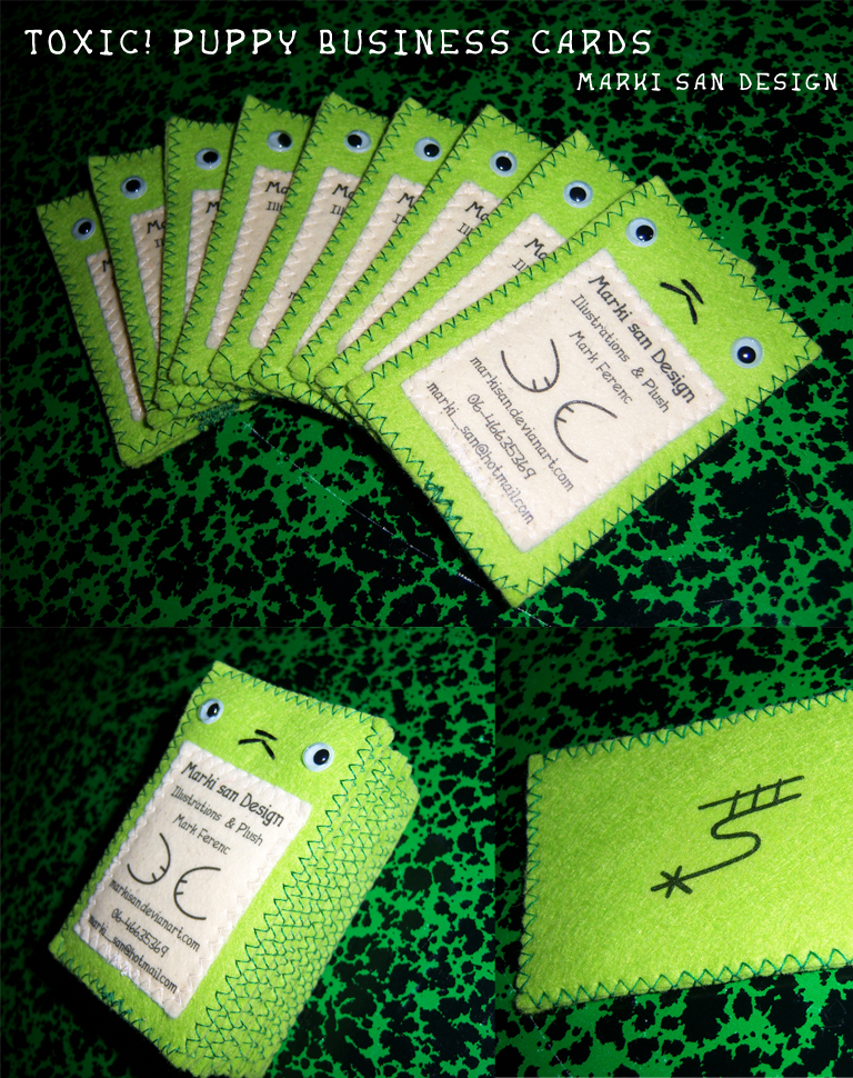 Toxic Puppy business cards by Marki-san-Design