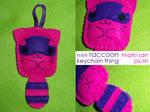 mini Raccoon Keychain