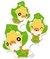 Three Little Worms by Marki-san-Design