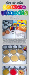 How to: Rainbow Cupcakes by Marki-san-Design