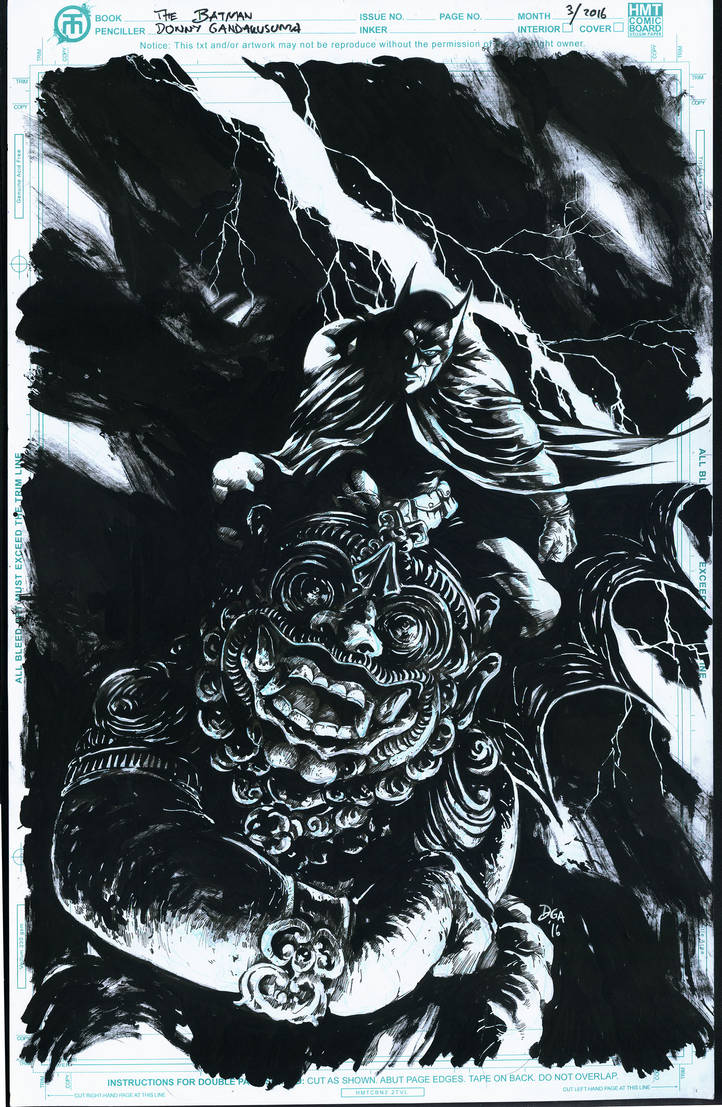 Batman on Indonesia Native Gargoyle by donnyg4