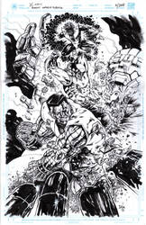 The classic X-Men vs Sentinel by donnyg4