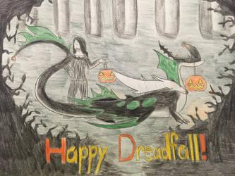 Happy Dreadfall: Savina and Alexadragonfire by Alexadragonfire