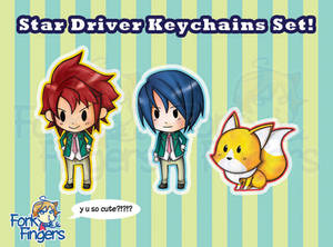 Star Driver - Keychains Set 1