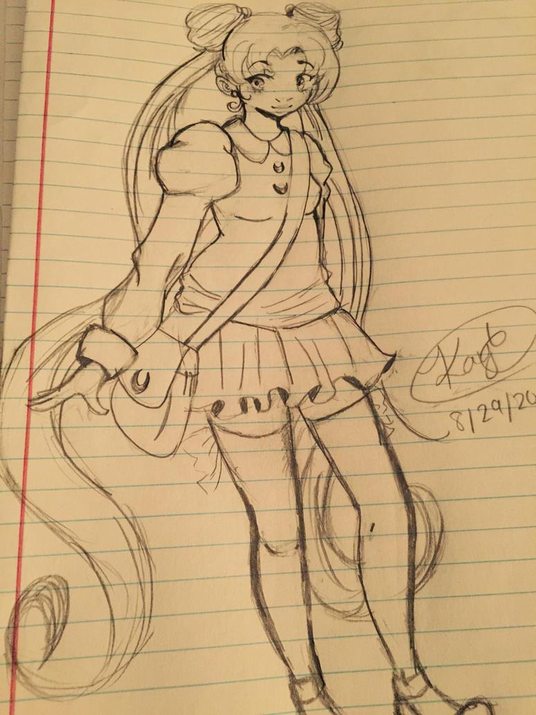 Sailor moon sketch by yukichan908