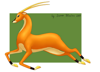 Golden Antelope by Suomen-Ukonilma