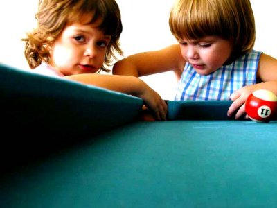 Playing Pool with Infants by leAmelie-Villian