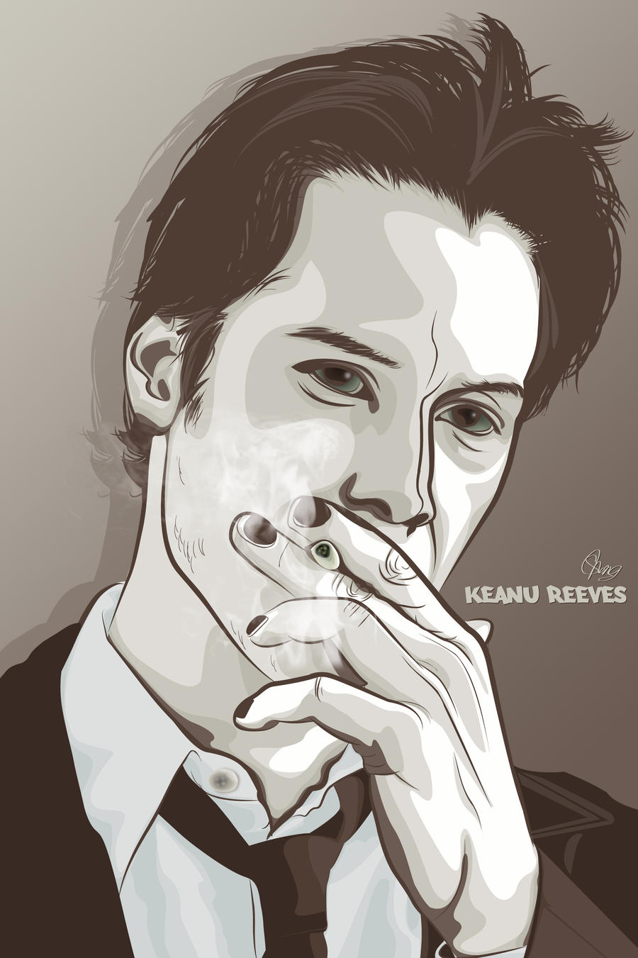 Keanu Reeves by shingudoo