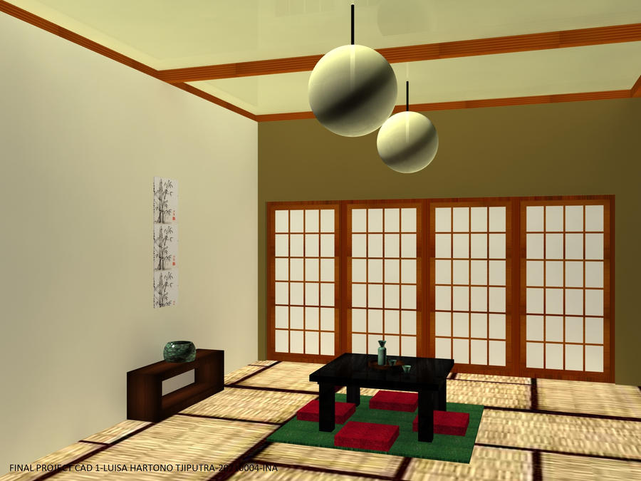 Japanese simple living room by le angelique on deviantart for Living room ideas japan