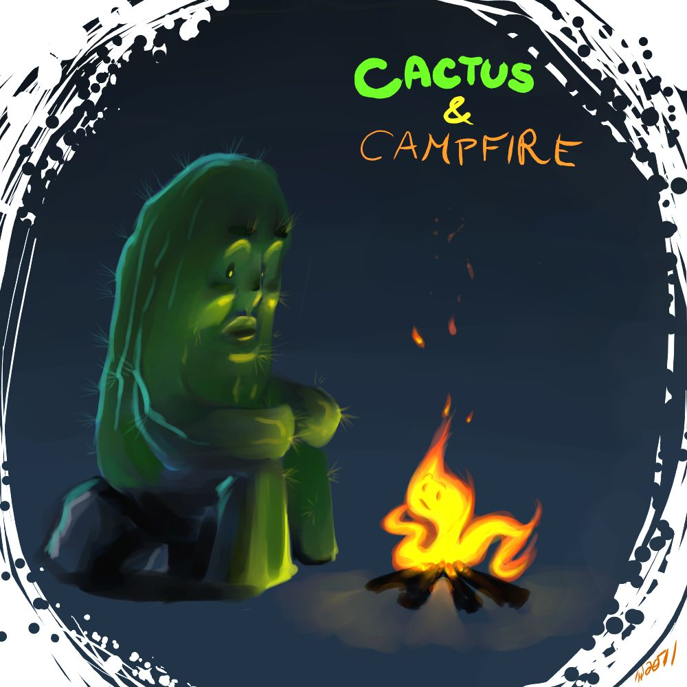 oC: Cactus n Campfire by NalaFontaine