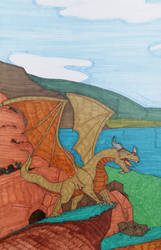 Dragon (close up) from Dragon vs Archer