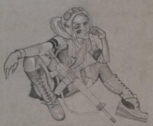 Crouching SteamGirl, Hidden Ammo