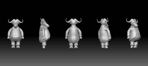 Buffalo Character Strip