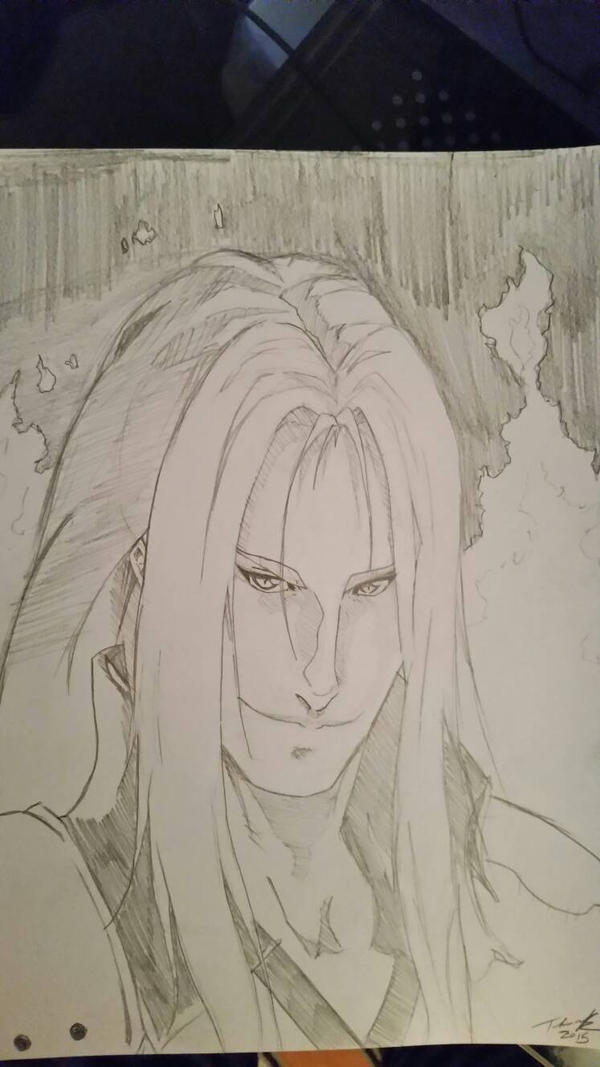 sephiroth - Final Fantasy VII  by fenrirthomasb