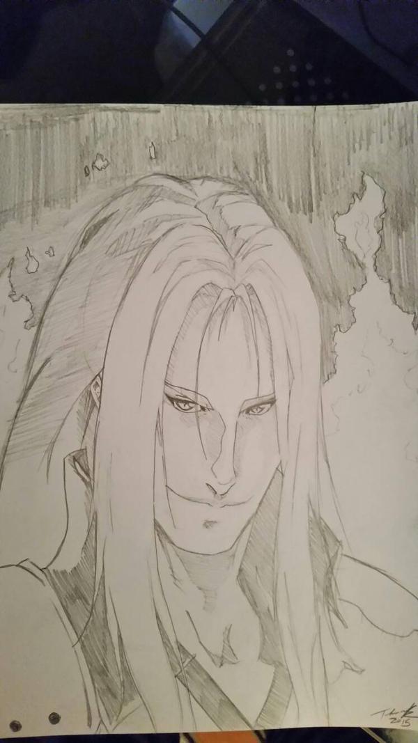 sephiroth - Final Fantasy VII  by fenrirthomasb
