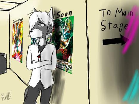 Waiting backstage...