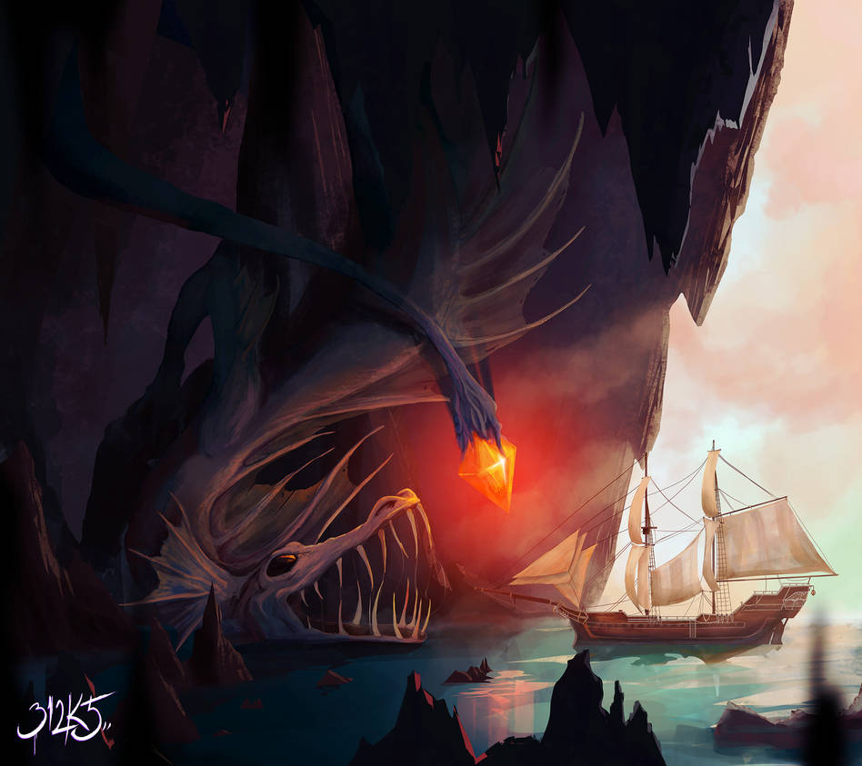 Angler Dragon by bledynart