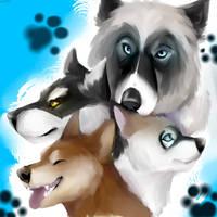 Husky Painting by kariing200