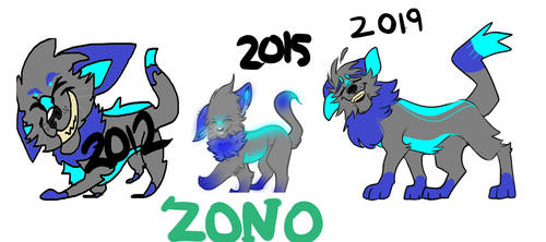 Zono OC (My drawings over the years: Progression)