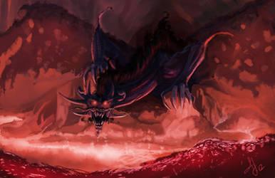 Shadow Dragon Concept A by AJsAlterEgo