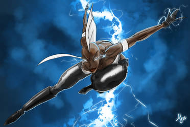 X-Men Fanart Storm (Colored) by AJsAlterEgo