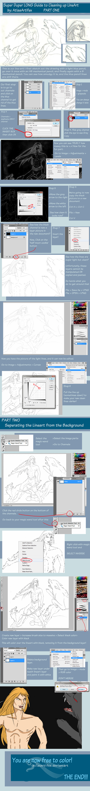 SUPER Cleaning up Line-art Tutorial by AtlasArtifex