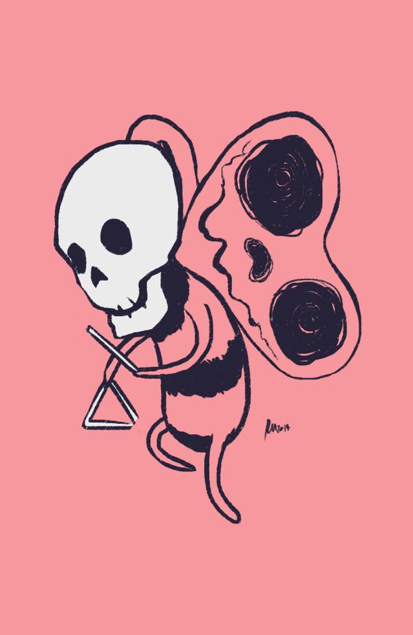 Skeleton butterfly by reymonstruo