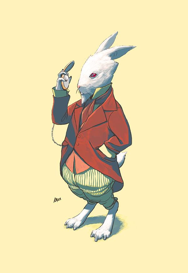 White Rabbit by reymonstruo