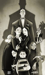 KidNotorious' Addams Family by billythebrain