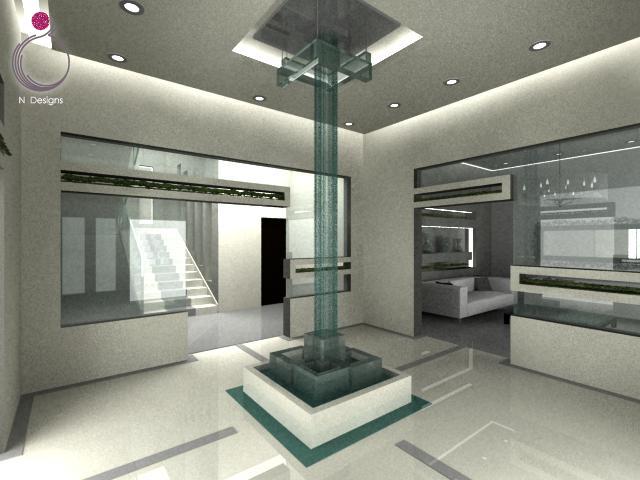 Al flan villa reception area home interior design for Villa d arte interior design home collection