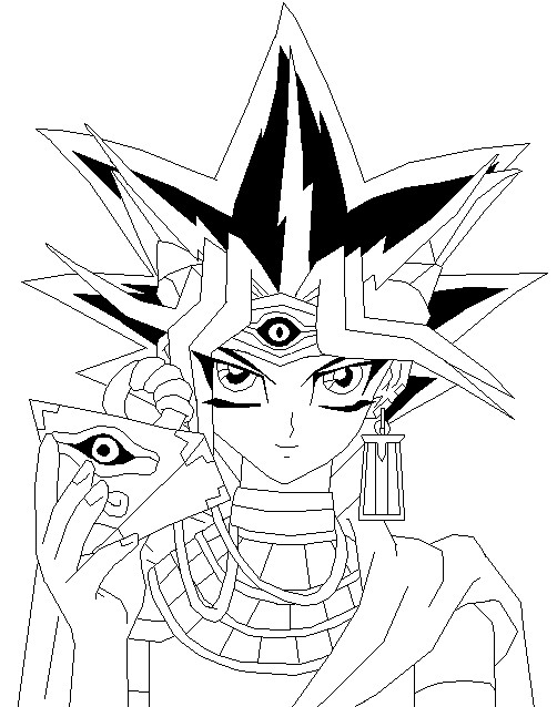 Yu Gi Oh Pharaoh Atem Coloring Page Coloring Pages