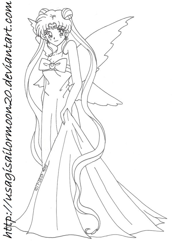 Princess Serenity Coloring Pages : Queen serenity of the moon kingdom by usagisailormoon on