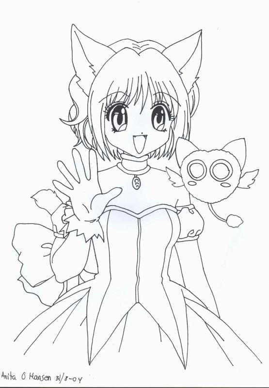 mew coloring pages - tokyo mew mew by usagisailormoon20 on deviantart