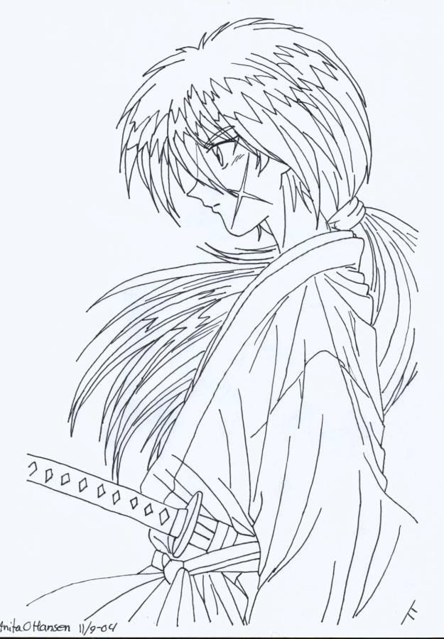 coloring pages for rurouni kenshin - photo#9