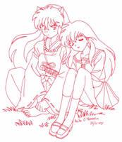 kagome and Inuyasha by usagisailormoon20