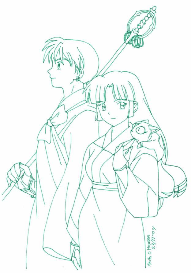 miroku and sango by usagisailormoon20