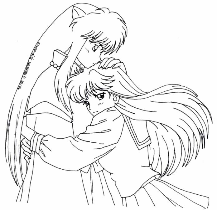 Inuyasha Coloring Pages | 671x696